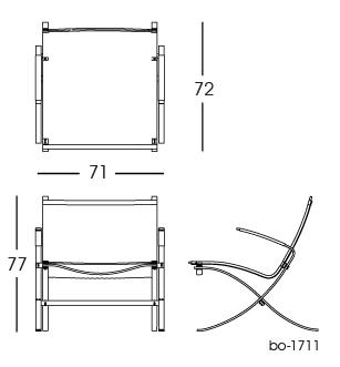 bo-1711 cane chair 2D