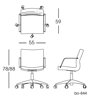 bo-844 office chair 2D