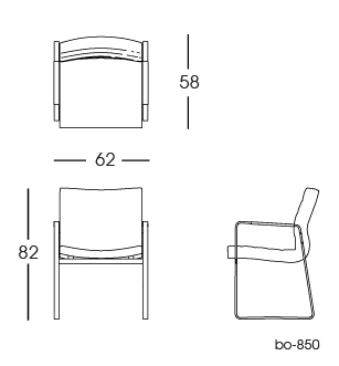 bo-850 conference chair 2D